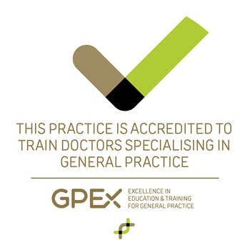 GPEx - Practice Accreditation Sticker 300.fw